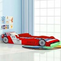 Dječji krevet FORMULA sa LED rasvjetom 200 x 90 cm PLAVI ili CRVENI