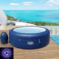 Jacuzzi mobilni - Hidromasažni bazen LED noćno osvjetljenje -196 cm